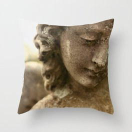 Cemetery Angel Throw Pillow
