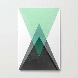 Green Geometric Print Metal Print