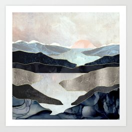 Blue Mountain Lake Art Print