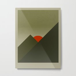 Forest Mountain Metal Print