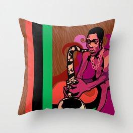 Black President Throw Pillow
