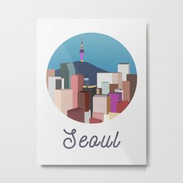 Seoul City Art Metal Print