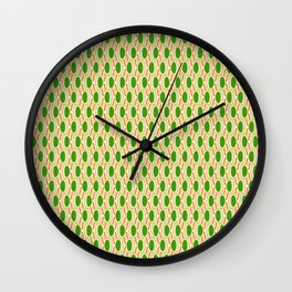 Green Waves Wall Clock