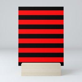 Mariniere marinière red and black Mini Art Print