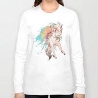 okami Long Sleeve T-shirts featuring OKAMI SHIRANUI by Morguesque