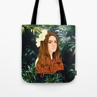 ultraviolence Tote Bags featuring Lana Deadly Nightshade by Balans