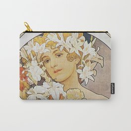 Alphonse Mucha - Flowers 1897 Carry-All Pouch