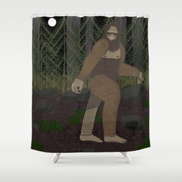 Bigfoot in the Forest Shower Curtain