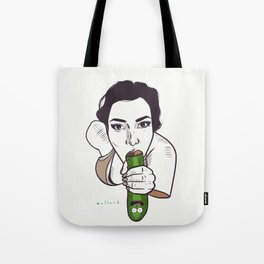 Unknown Celebrity with Pickle Tote Bag