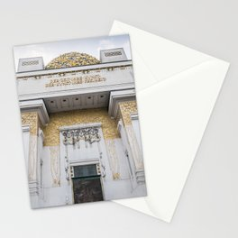 Secession building in Vienna Austria art nouveau Stationery Cards