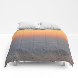 sunset by the sea Comforters