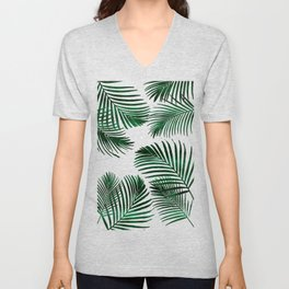 Tropical Palm Leaf Unisex V-Neck