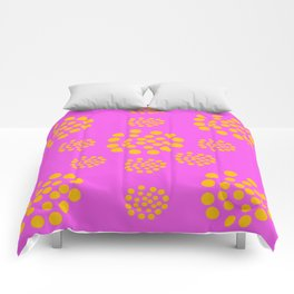 Fuchsia Orange Geometric Abstract Comforters