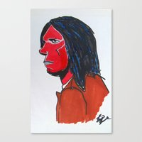 neil young Canvas Prints featuring Neil Young by Urban Knish