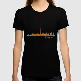 Dubai, emirates, City Cityscape Skyline watercolor art v1 T-shirt