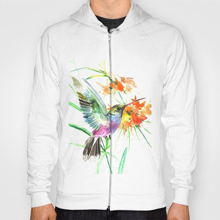 Hummignbird and Flowers Hoody