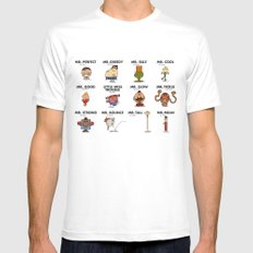 Mr.Fighter II MEDIUM Mens Fitted Tee White