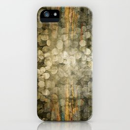 """""""Abstract golden river pebbles"""" iPhone Case"""