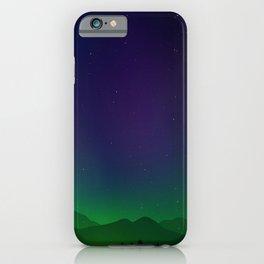 Aurora Synthwave #9 iPhone Case