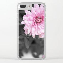 Pink Chrysanthemum Clear iPhone Case