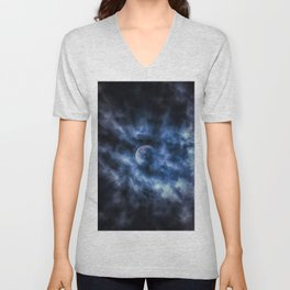 Clouded Moon Unisex V-Neck