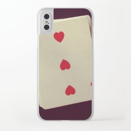 3 Hearts Clear iPhone Case