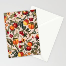 Vintage Fruit Pattern XXIII Stationery Cards