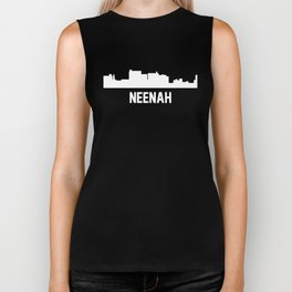 Neenah Wisconsin Skyline Cityscape Biker Tank
