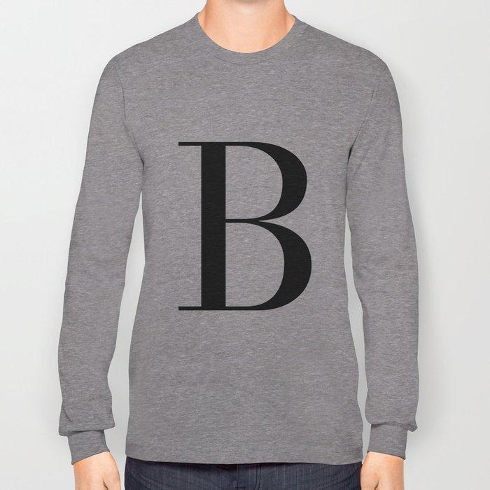 'B' Initial Long Sleeve T-shirt