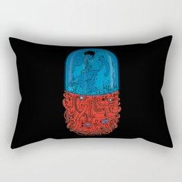Cyberpunk Experiment Rectangular Pillow