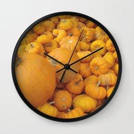 Pumpkins Photography Art Wall Clock