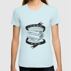 If They Don't Have Books... SMALL Womens Fitted Tee Light Blue
