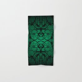 Green cracked wall Hand & Bath Towel