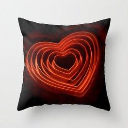 Burning Love Throw Pillow