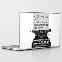 writer Laptop & iPad Skins featuring Writer Defined by Nicole Austin