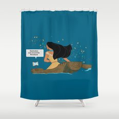 Pocahontas - Just around the Riverbend Shower Curtain