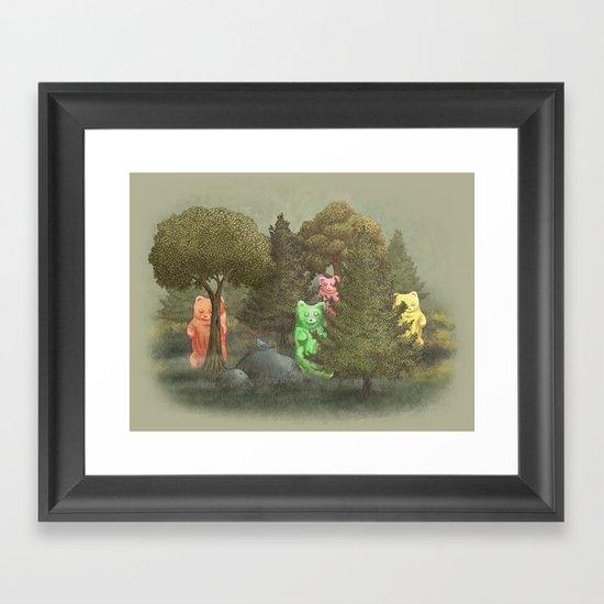 Wild Gummy Bears Framed Art Print
