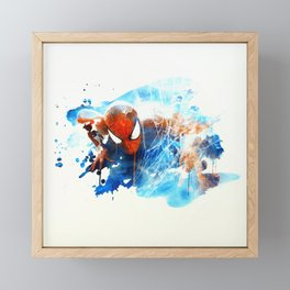 Spider man Framed Mini Art Print