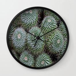 Pincushion Cactus Wall Clock