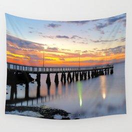 Wellington Point Jetty Sunrise Wall Tapestry