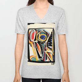 The Scream Street Art Graffiti Unisex V-Neck