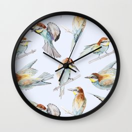 European Bee-Eaters Wall Clock