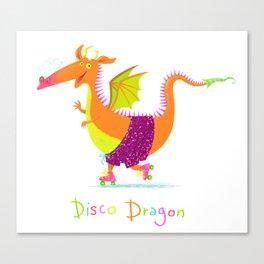 Disco Dragon Canvas Print