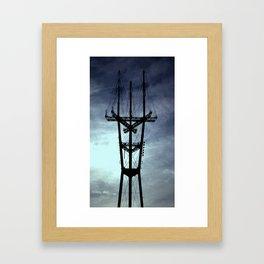 sutro smiley Framed Art Print