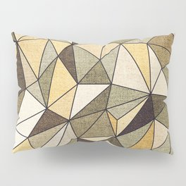 Abstract geometric patter.Triangle background 2 Pillow Sham