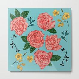 pretty pink roses Metal Print