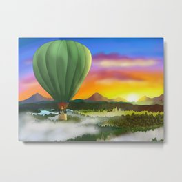 Birthday Balloon Metal Print