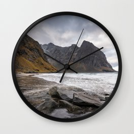Kvalvika beach, Lofoten Wall Clock