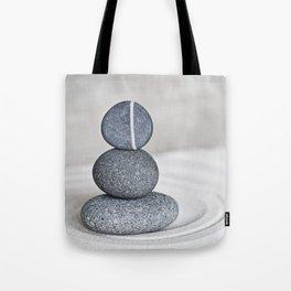 Zen cairn pebble stone balance grey Tote Bag