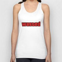 wasted rita Tank Tops featuring Wasted by Yiannis